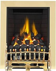 Broadly Full Depth Radiant Gas Fire - Brass