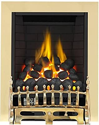 Broadly Full Depth Radiant Gas Fire - Brass
