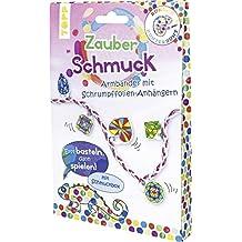 Rundum Kunterbunt Zauberschmuck-Set: Anleitung und Material für 2 Armbänder mit Anhängern aus Schrumpffolie und Schmuckdose zum Ausmalen