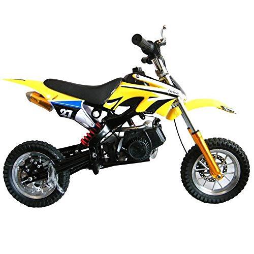 QZPM 12-Zoll-Mini-Geländewagen Mountain Beach Sportwagen Elektro-Motorrad, vorne und hinten Scheibenbremsen (Scheibenbremse) (Color : Yellow, Size : 105X68CM) -