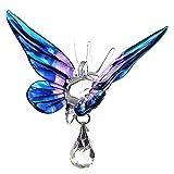 FATTO A MANO FANTASY vetro farfalla catturaluce regalo viola IMPERATORE