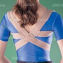 SDA Pobres Corrector de Postura Elástico de ayuda por Oppo clavícula Brace débil escápulas músculos AC cuello Columna vertebral. Dolor de espalda correa ajustable depresión, recto, hombros y espalda hombro (Unisex)