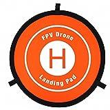 Kingko® Landeplatz für Drohnen,Drone Landing Pad 55 CM Fast-fold Landung Parkplatz Schürze Pad Für DJI MAVIC AIR PRO SPARK Drone (Orange)