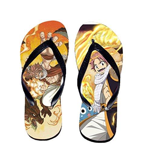 Bromeo Fairy Tail Anime Unisex Flip Flops Zehentrenner Flip Pantoffeln 1