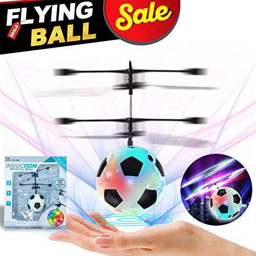 RC Fliegend Ball Fußball Hubschrauber Ball mit Licht Oben Ball Drohne Infrarot Induktion Hubschrauber Handsensor Spielzeug Innen und Draussen Spiele Elektronisch Spielzeug Geschenk Für Jungs Mädchen