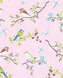 PiP Studio Tapete Vögel pink
