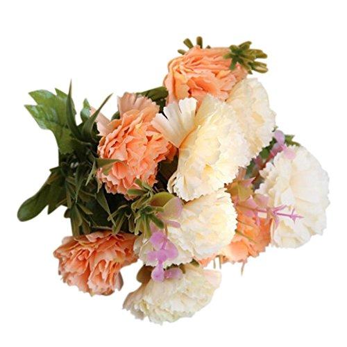 Mitlfuny Unechte Blumen Künstliche Fälschung Blumen-Nelken mit Blumen Brautstrauß Hochzeitsfeier Home Decor