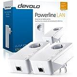 Devolo dLAN 1200+ - Kit de inicio de adaptador de comunicación por línea eléctrica PLC (1200 Mbps, 2 adaptadores, 1 puerto LAN, enchufe LAN), blanco