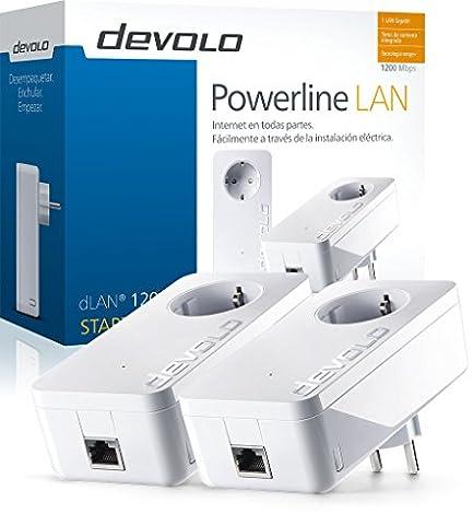 Devolo dLAN 1200+ - Adaptateur réseau Kit PLC Powerline (1200 Mbps, 2 adaptateurs, 1x Go LAN Port, branchez ...