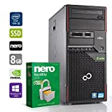 Gaming PC Computer | Fujitsu Esprimo W410 (Tower) | Intel Core i5-2500 @ 3,3 GHz | 8GB DDR3 RAM | 1000GB HDD | 240GB SSD | Nvidia GTX 1050 | DVD-Laufwerk | Windows 10 Pro (Zertifiziert und Generalüberholt)