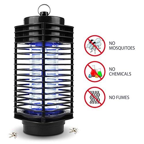 Maxineer Electrónico Lámpara Antimosquitos Interior,Lámpara de Mosquitos Electrónica Lámpara Anti-Mosquitos/Anti-Insectos Mata Trampa Mosquitos con Luz UV Sin Sustancias Químicas