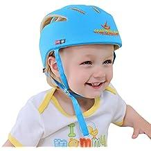 Casco de Seguridad para Bebé Infantil Antigolpes Sombrero con Ajustable Arnés de Protección para Proteger Cabeza Aprender Gatear Andar Caminar Correr Jugar Bicicleta
