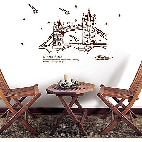 Collage di carta da parati rimovibile wall sticker adesivi murali di carta Tower Bridge , 1