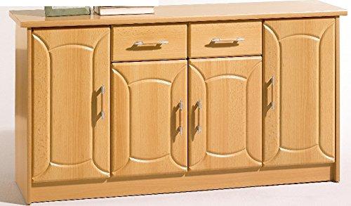 Anrichte Schubladenkommode mit 4 Türen in Buche Buche - (2772)