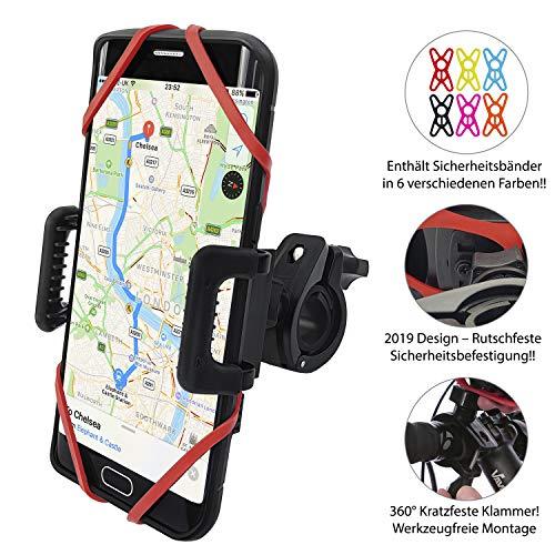 TruActive Premium Ausgabe Universal Handyhalterung Fahrrad für 4,0-6,5 Zoll Smartphone, 360° Drehbar (Schwarzer 4 Fall Gummi-iphone)