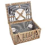 Butlers A Day in the Park Picknickkorb für 2 Personen groß - Komplett-Set mit Porzellangeschirr und Besteck