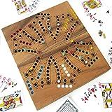 Jeu de TOC 6 - TOCK en couleur. De 2 à 6 joueurs, 26x26 cm, jeux de société familial de stratégie en bois massif aux normes CE. Marque française le Délirant, rangement facile avec plateau refermable.