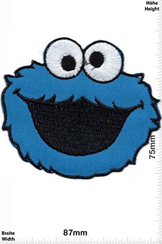 Cartoon-patch (Patch - Sesamstrasse -Krümelmonster - Movie Game Patch - Cartoon - Comic - Patches - Aufnäher Embleme Bügelbild Aufbügler - Costume)