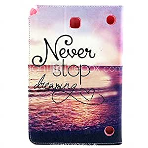 GENERIC Dream-Seeker Pattern PU Leather Wallet Soft TPU Case Cover For Samsung Galaxy Tab 3 Lite #04301214