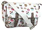 LYDC Cupcake Satchel Bag Girls School Bag Womens Handbag - Beige