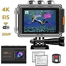 1a89cc78aa2832 HENGKEXIN Action Cam 4K 20M WiFi Sensore Impermeabile Fino a 30M, Schermo  LCD 2 Pollici
