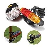3 -in-1 7 LED Fahrrad -Blinker Bremslicht Horn Indicator Über