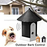 HYGMall 1PC Hundetraining Pet Control Wasserdicht Sonic Trainer Haustier Ultraschalltraining Anti Bark Outdoor Gerät Kontrolle Hundestop Bark Repeller Trainer Heimtierbedarf Heimtierbedarf (Schwarz)
