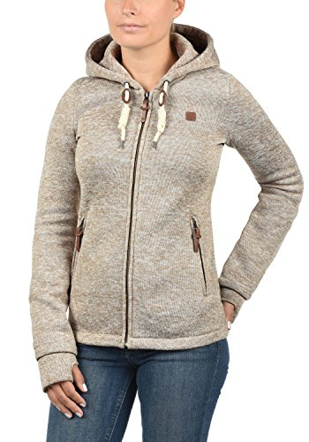 DESIRES Thory Damen Fleecejacke Sweatjacke Jacke Mit Kapuze Und Daumenlöcher, Größe:XXL, Farbe:Dune (5409) - 2
