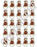 25 Curious George aufstehen essbare Tasse Kuchendeckel Dekorationen