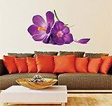 *** NUEVO *** Orquídea Vistoso Pegatina Calcomanías Flores silvestres Hermosa decoración de la habitación. Fotomural art deco. Sala Casa Decoración de pared Decoración