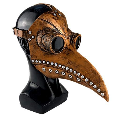 GPAN Plague Doctor Mask Halloween Scary MaskeCosplay Maske Doktor Arzt Kopf Maske,A