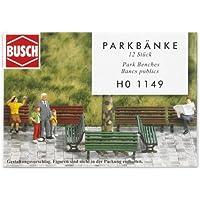 Busch 1149 - Bancos de parque (12 unidades) [Importado de Alemania]