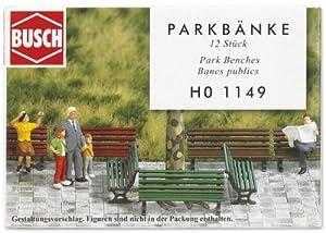 Busch 1149 - Bancos de parque (12 unidades) Importado de Alemania