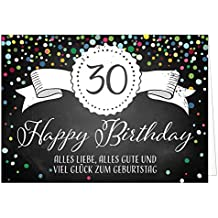 Suchergebnis Auf Amazon De Fur Xxl Geburtstagskarte 30 Burobedarf