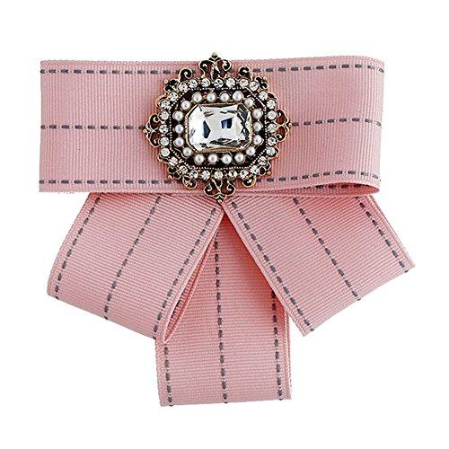 Demarkt Vintage Schleifenbrosche Unisex Brosche mit Strass Fliege Schleife mit Haken verstellbar für Herren Damen Mädchen (Kostüm Schatz Brust)