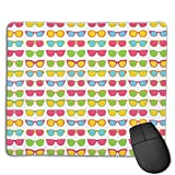 Mouse Pad Cool Summer Sunglasses Art Rectangle Rubber Mousepad 8.66 X 7.09 Inch Gaming Mouse Pad with Black Lock Edge