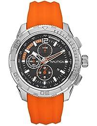 Nautica A18723G - Reloj de pulsera hombre, silicona, color naranja