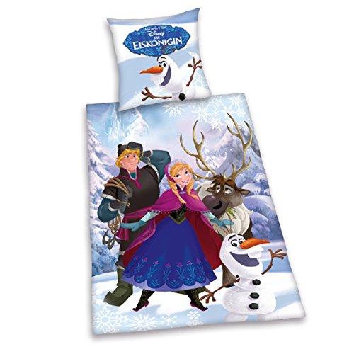 Herding Bettwäsche Disney die Eiskönigin 135x200 cm Neues Motiv, Linon