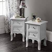 Laura James Sevenoaks AGTC008 Double Set of Two Bedside Tables Nightstands