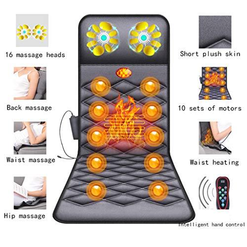 DOOKK Massagesitzauflage,Shiatsu Massagesitzauflage Massagesitz mit Heat 16 Massageköpfen 9-Gang-Ganzkörpermassage für Office Auto und Home