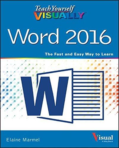 Preisvergleich Produktbild Teach Yourself VISUALLY Word 2016 (Teach Yourself VISUALLY (Tech))