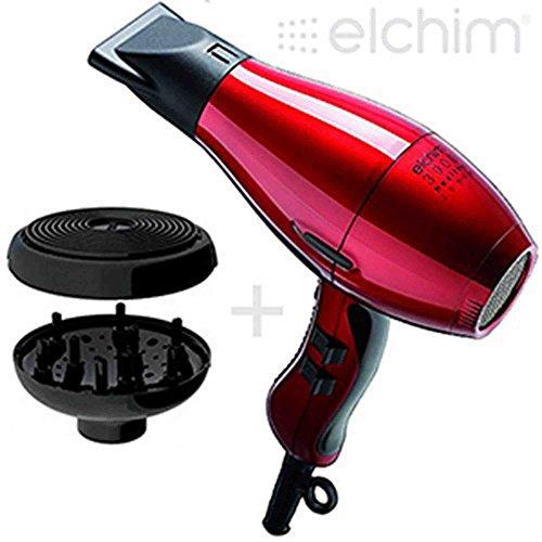 Elchim 3900Haartrockner Healthy Ionic rot mit Diffusor Cocoon (Haartrockner Elchim 3900)