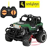 Zest 4 Toyz Army Style High Speed Mini Rock Crawler Remote Control Car - Assorted Color