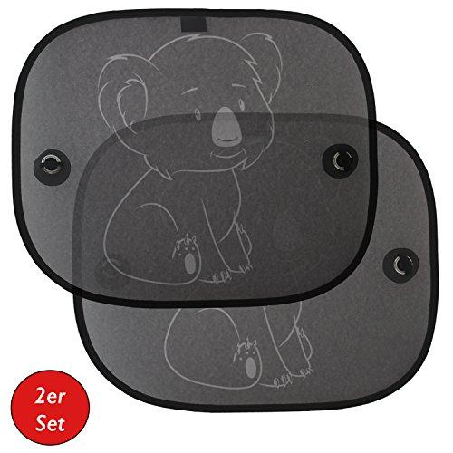 Auto-Sonnenschutz | Sonnenblende für Kinder & Babys (2er Set) von Koala® | für Seitenfenster | Schutz vor schädlicher UV-Strahlung