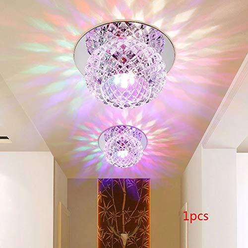 Ganquer 5W 220V Dormitorio Recibidor Lujoso Simple UV Cristal Luz Cuarto de Estar Decoración Hogar...