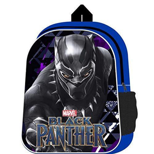 Black Panther Backpack with Mesh Side Pocket Avengers Movie School Bag Marvel Boys Rucksack for Children...