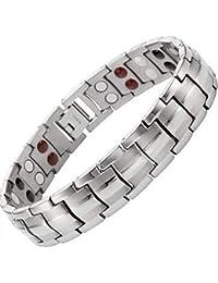 Drkao Titanium Magnetic Bracelet for Arthritis Pain Relief Magnets for Anxiety Relief Magnetic Therapy Bracelets Best Men's Bracelets for Carpel Tunnel