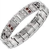 Drkao Magnetisches Herren-Armband Titan-Magnetarmband für Männer mit Geschenkbox Schmerzlinderung für