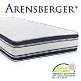 Arensberger Relaxx 9 Zonen Wellness Matratze mit 3D-Memory Foam, 140cm x 200cm, Höhe 25cm, Raumgewicht 50 kg/m³, Drei Schichten: Kaltschaum + Visco Smart Schaum + Gel Schaum