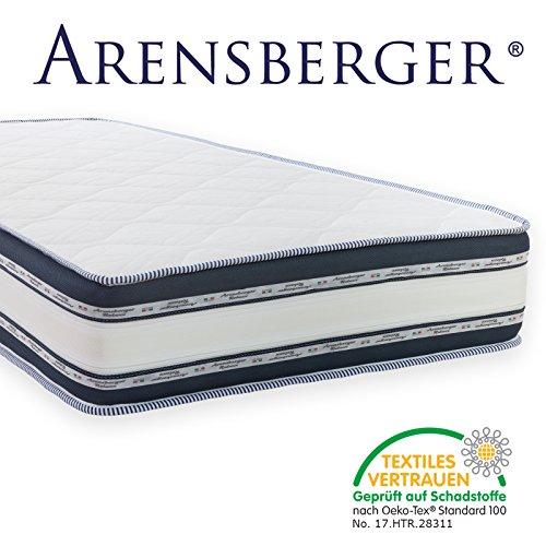 Arensberger ® Relaxx 9 Zonen Wellness Matratze mit 3D-Memory Foam, 90cm x 200cm, Höhe 25cm, Raumgewicht 50 kg/m³, drei Schichten: Kaltschaum + Visco Smart Schaum + Gel Schaum